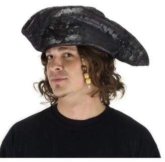 Elope Old Black Pirate Hat Adult Halloween Accessory