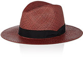 Rag & Bone Women's Laurie Panama Hat-BURGUNDY