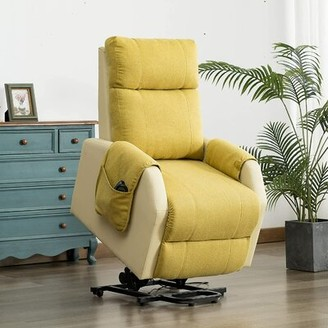 Latitude Run Ataly Faux Leather Power Recliner with Massage and Heating