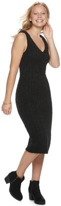 Almost Famous Juniors' Sleeveless Eyelash Rib Mini Dress