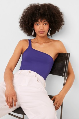 French Connection Saachi Jersey One Shoulder Bodysuit