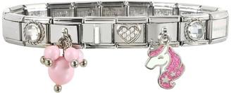 Nomination Pink Unicorn Sterling Silver & Stainless Steel Bracelet