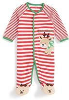 Little Me Infant Boy's Reindeer Stripe Footie