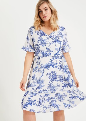 Phase Eight Ines Printed Wrap Dress