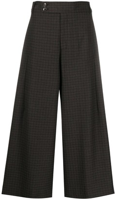 Closed Cropped Wide-Leg Trousers