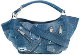 DSQUARED2 distressed denim hobo bag - women - Cotton - One Size