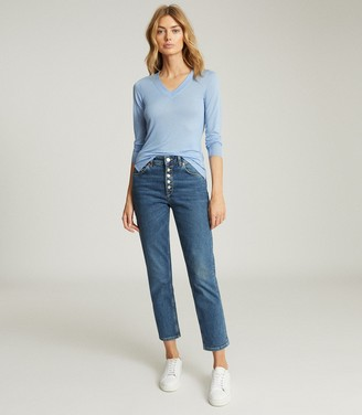 Reiss SYLVIE V-NECK TOP Blue