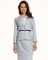 Le Château Crosshatch Notch Collar Belted Blazer