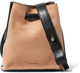 Jil Sander Small Two-Tone Leather And Suede Bucket Bag
