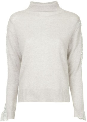 Onefifteen Lace Panel Sweater