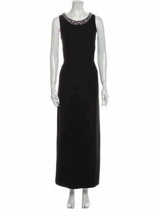 Karl Lagerfeld Paris Scoop Neck Long Dress Black