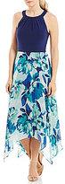 Jessica Howard Sleeveless Printed Hi-Low Dress