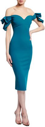 Chiara Boni Off-the-Shoulder Sweetheart Bodycon Dress