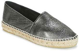 Kenzo TIGER METALIC SYNTHETIC LEATHER women's Espadrilles / Casual Shoes in Black