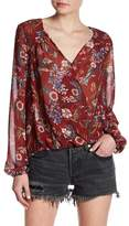 Willow & Clay Floral Printed Wrap Blouse