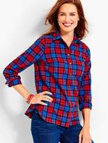Talbots The Classic Cotton Shirt - Gingerbread Plaid