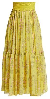 Giambattista Valli Floral Silk Maxi Skirt