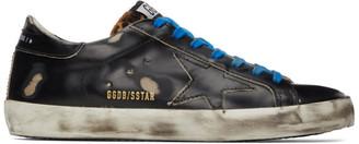 Golden Goose Black and Brown Superstar Sneakers