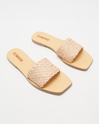 Sol Sana Women's Neutrals Flat Sandals - Marigold Slides - Size 38 at The Iconic