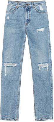 Gucci Distressed Jean in Light Blue   FWRD