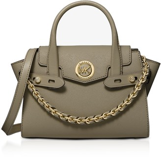 Michael Kors Green Carmen Extra-Small Saffiano Leather Belted Satchel Bag