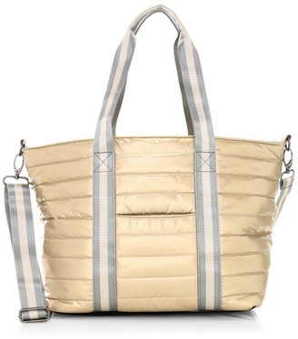 Think Royln Junior Wingman Pearlized Quilted Tote