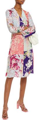Etro Patchwork-effect Floral-print Jacquard Dress