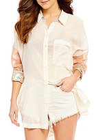 Free People Rainbow Rays Button-Down Blouse