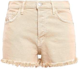 Current/Elliott Distressed Frayed Denim Shorts