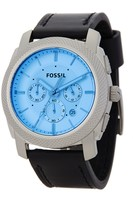 Fossil Men's Machine Chronograph Leather Strap Watch