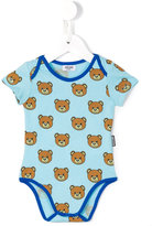 Moschino Kids - teddy print body - kids - Cotton - 3-6 mth