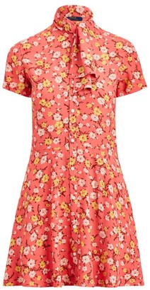 Polo Ralph Lauren Floral Tieneck Short-Sleeve Shirtdress