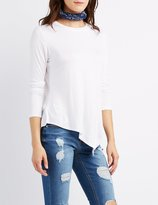 Charlotte Russe Asymmetrical Crew Neck Tee