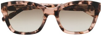 Longchamp Tortoiseshell Square Frame Sunglasses