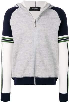 DSQUARED2 zipped two-tone jacket