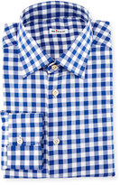 Kiton Buffalo-Check Dress Shirt