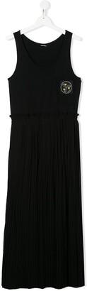 Diesel TEEN patch maxi dress