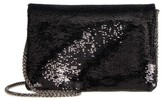 Street Level Sequin Clutch - Black