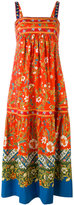 Tory Burch floral print midi dress - women - Cotton/Spandex/Elastane - 4