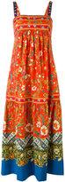 Tory Burch floral print midi dress - women - Spandex/Elastane/Cotton - 4