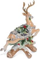 Fitz & Floyd Bristol Holiday Deer Taper Candleholder Figurine