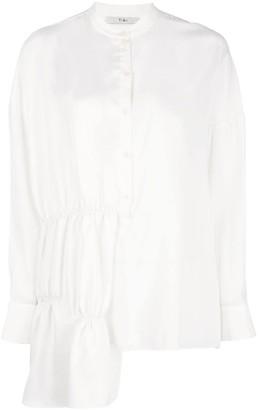 Tibi Patchwork Shirred Tunic