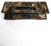 LAI Brown Python Skin Clutch Handbag Size Small