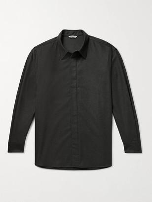 AURALEE Wool-Flannel Shirt