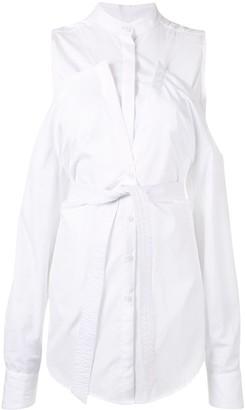 Strateas Carlucci Cold-Shoulder Hybrid Shirt