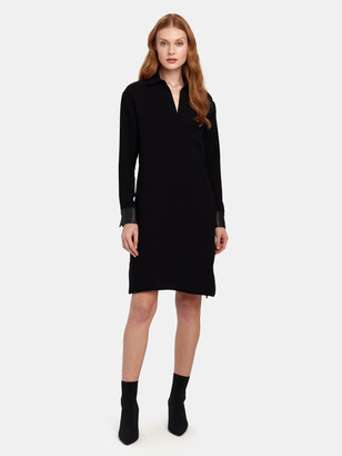 Vince Long Sleeve Shirt Dress