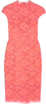 Lela Rose Corded Lace Dress - Papaya