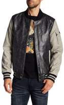 X-Ray Faux Leather Lettermans Jacket