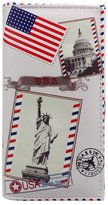 ABC® 1099 ABC® Women Lady Long Design Purse Clutch Wallet Card Case Statue Of Liberty Printing Bag
