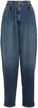 MSGM Balloon Cotton Denim Jeans